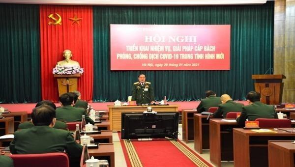 """Thứ trưởng Bộ Quốc phòng: """"Đưa các đơn vị quân đội vào trạng thái như thời chiến"""" để chống dịch COVID-19"""
