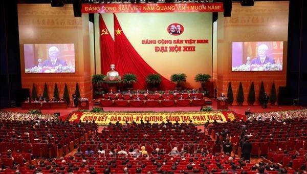 Tổng Bí thư, Chủ tịch nước Nguyễn Phú Trọng phát biểu bế mạc Đại hội đại biểu toàn quốc lần thứ XIII của Đảng.