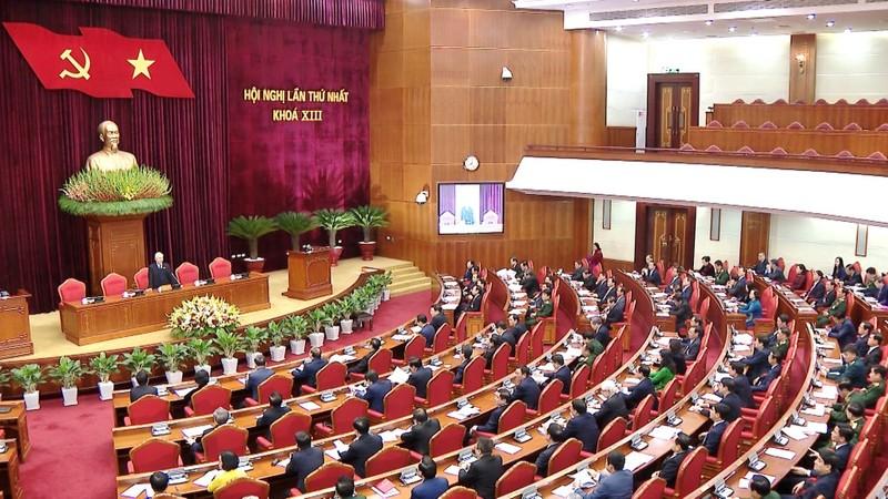 BCH Trung ương XIII bầu Tổng Bí thư khóa XIII với số phiếu gần như tuyệt đối