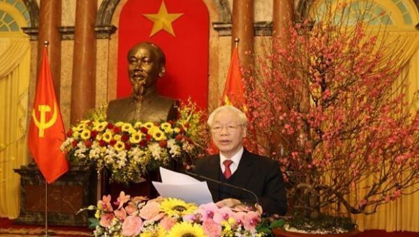 Tổng Bí thư, Chủ tịch nước Nguyễn Phú Trọng: Nỗ lực hoàn thành thắng lợi nhiệm vụ của năm 2021