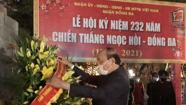 Thủ tướng Nguyễn Xuân Phúc dâng hương tưởng nhớ Quang Trung – Nguyễn Huệ