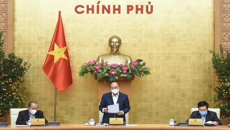 Thủ tướng Nguyễn Xuân Phúc đề nghị tạo mọi điều kiện cho kinh tế tư nhân yên tâm đầu tư, kinh doanh. Ảnh: VGP/Quang Hiếu