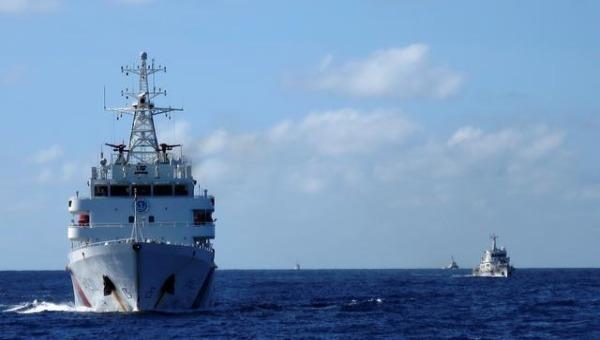 Tàu tuần duyên Trung Quốc hoạt động trên Biển Đông. Ảnh: Reuters (chụp ngày 15/4/2014).