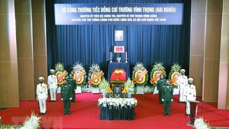 Lễ truy điệu nguyên Phó Thủ tướng Trương Vĩnh Trọng.