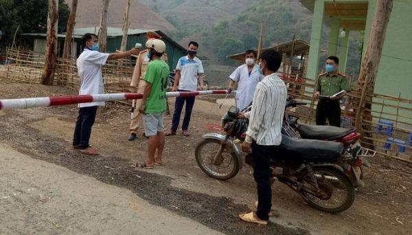 Một chốt kiểm soát dịch Covid-19 tại tỉnh Điện Biên.