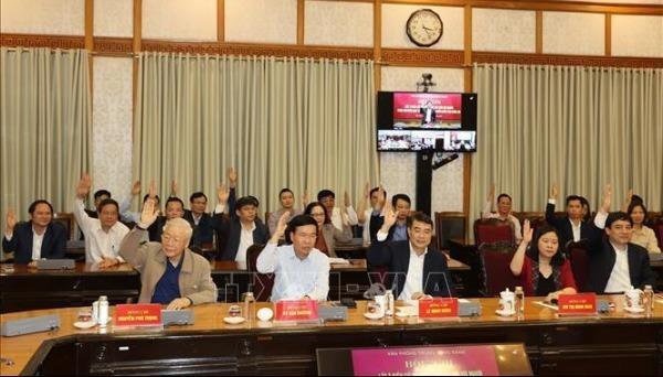 Giới thiệu các lãnh đạo Trung ương ứng cử đại biểu Quốc hội