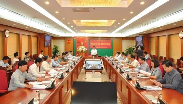Kỳ họp thứ hai của Ủy ban Kiểm tra Trung ương khóa XIII.