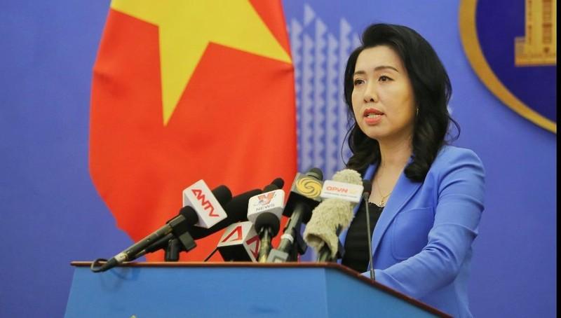 Người phát ngôn Bộ Ngoại giao Lê Thị Thu Hằng. Ảnh: VGP