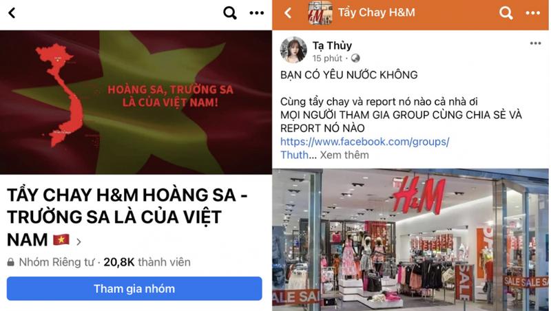 Các group tẩy chay H&M cũng nhanh chóng được lập và thu hút sự tham gia của hàng chục nghìn thành viên. Ảnh: VOV