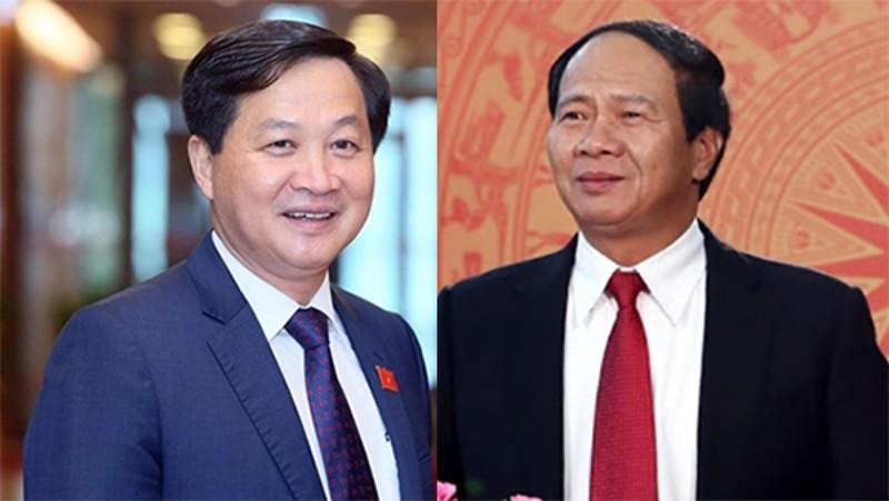 Ông Lê Minh Khái và ông Lê Văn Thành được đề cử để Quốc hội phê chuẩn bổ nhiệm giữ chức Phó Thủ tướng. Ảnh: VOV
