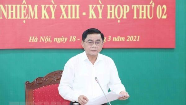 Đồng chí Trần Cẩm Tú, Ủy viên Bộ Chính trị, Chủ nhiệm Ủy ban Kiểm tra Trung ương chủ trì Hội nghị.