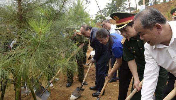 Quân đội chung tay cùng nhân dân thực hiện thành công Chương trình trồng 1 tỷ cây xanh
