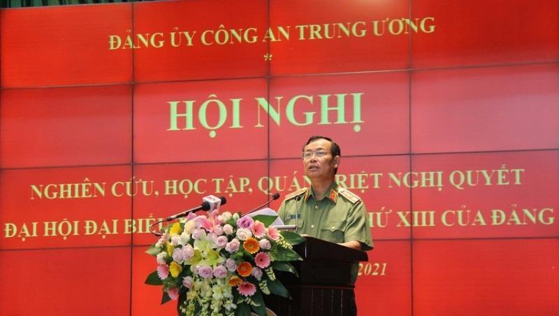 Thứ trưởng Lê Tấn Tới phát biểu tại Hội nghị. Ảnh: bocongan.gov.vn