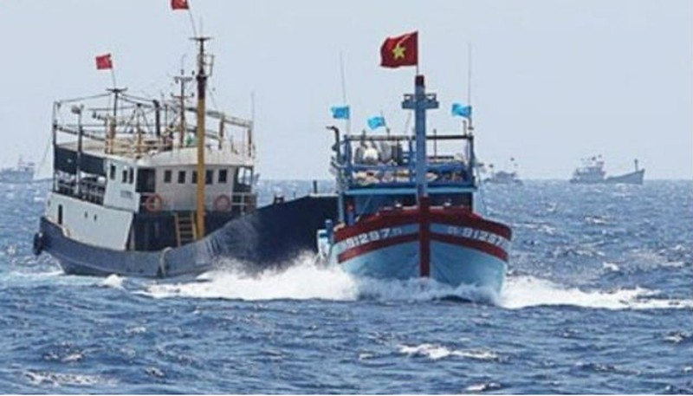 Nghiệp đoàn nghề cá Việt Nam ra tuyên bố về việc nhiều tàu của ngư dân bị đâm hỏng hóc, gây thiệt hại về người và của. Ảnh: VOV