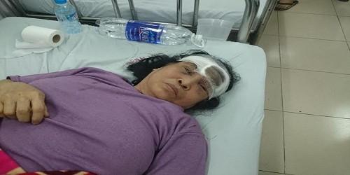 Bà Thoa đang điều trị tại bệnh viện