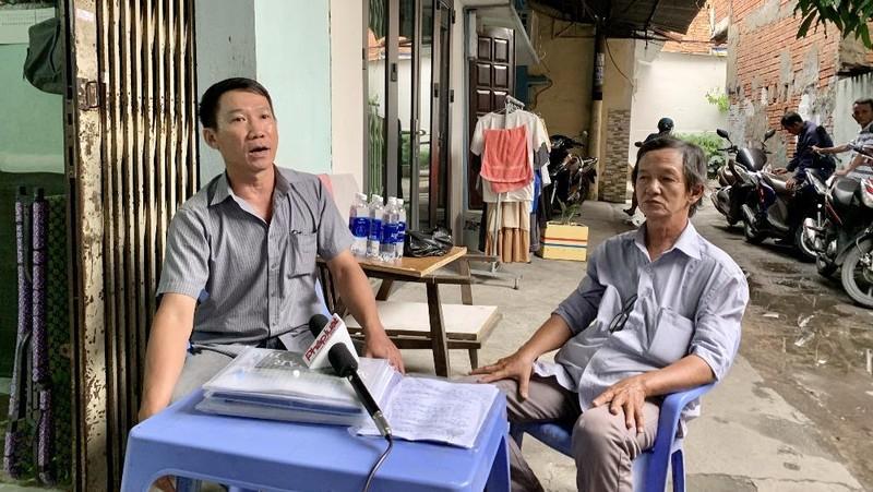 Ông Nguyễn Tấn Trung bức xúc về việc UBND quận Bình Thạnh chậm chễ thi hành án, ảnh hưởng đến cuộc sống của gia đình ông.