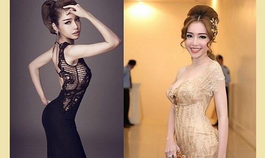 """Bà mẹ 2 con Elly Trần """"bản gốc"""" (phải) có 3 vòng đầy đặn bỗng chốc biến thành một người mẫu """"mình hạc xương mai"""" với cách tạo dáng như sắp """"gãy"""" bởi chỉnh eo và mông quá đà."""