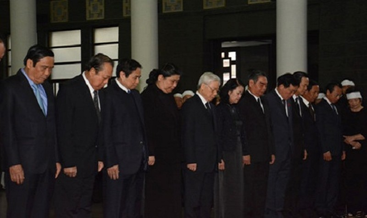 Lãnh đạo Đảng, Nhà nước... tiễn biệt Nguyên Phó Chủ tịch Quốc hội Trương Quang Được