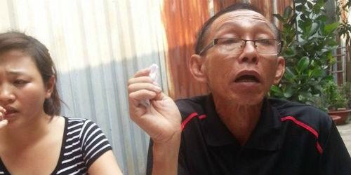 Ông Trương Đức Hoàng, cha nạn nhân chia sẽ với phóng viên về vụ việc