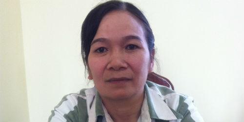 Phạm nhân Hoàng Thị Nhàn tại Trại giam Đắk Trung