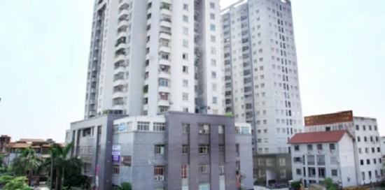 Cư dân chung cư 96A cho rằng, Cty Mộc đã xây không phép một hội trường trên tầng 20. Ảnh: G.Bảo