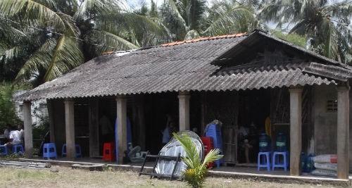 Ngôi nhà nơi phát hiện thi thể nạn nhân