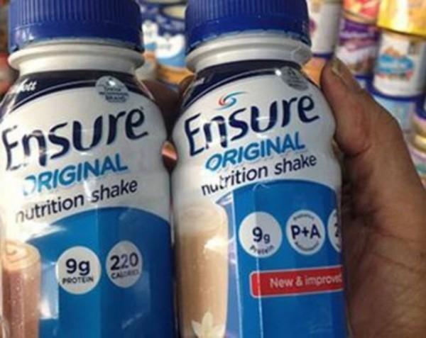 Mặt hàng sữa Ensure.