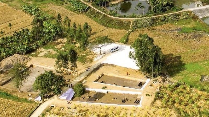 Toàn cảnh bãi cọc Cao Quỳ, xã Liên Khê, huyện Thủy Nguyên, Hải Phòng.