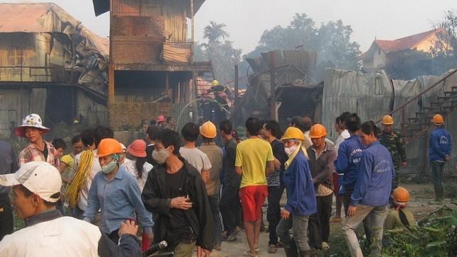 Phát hiện thi thể trẻ em trong vụ cháy KĐT An Hưng