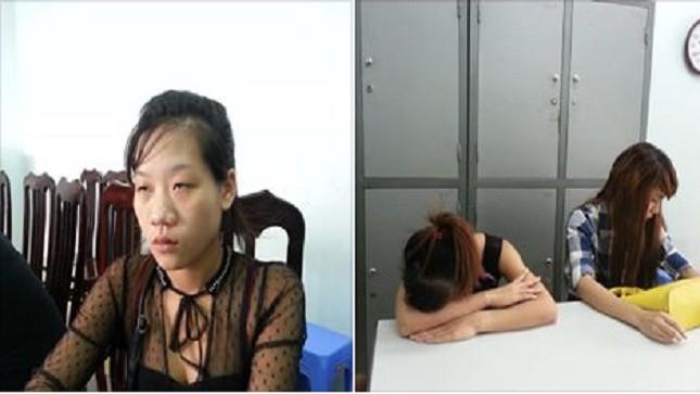 """""""Má mì"""" Nguyễn Thị Ba (bên trái) và hai gái bán dâm."""