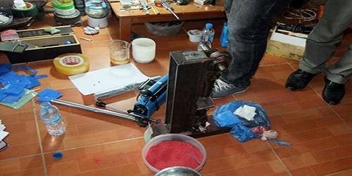 Hà Nội: Triệt phá cơ sở sản xuất ma tuý