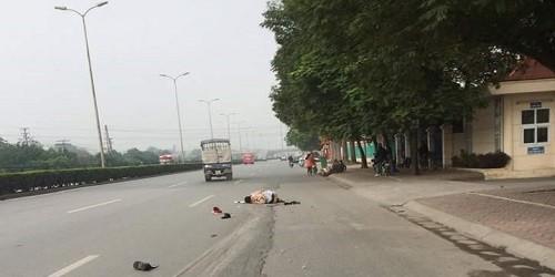 Truy tìm xe tải đâm CSGT Hà Nội trọng thương rồi bỏ chạy