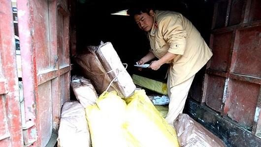 Thu giữ 300kg chân gà nhập lậu từ Trung Quốc