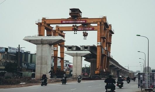 Dự án đường sắt đô thị Cát Linh - Hà Đông vắng bóng công nhân