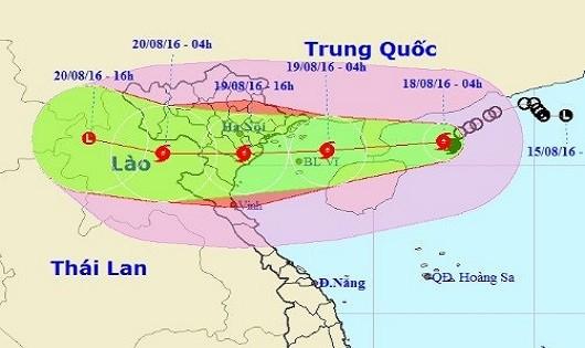 Bão mạnh tăng tốc hướng vào Quảng Ninh - Thanh Hóa