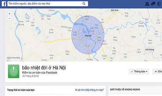 Cộng đồng mạng đánh dấu an toàn sau Bão số 3 qua Facebook
