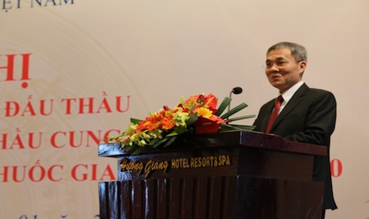 Phó Tổng Giám đốc BHXH Việt Nam Phạm Lương Sơn phát biểu tại Hội nghị