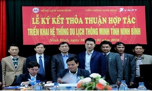 Ký kết thoả thuận hợp tác triển khai hệ thống du lịch thông minh tỉnh Ninh Bình