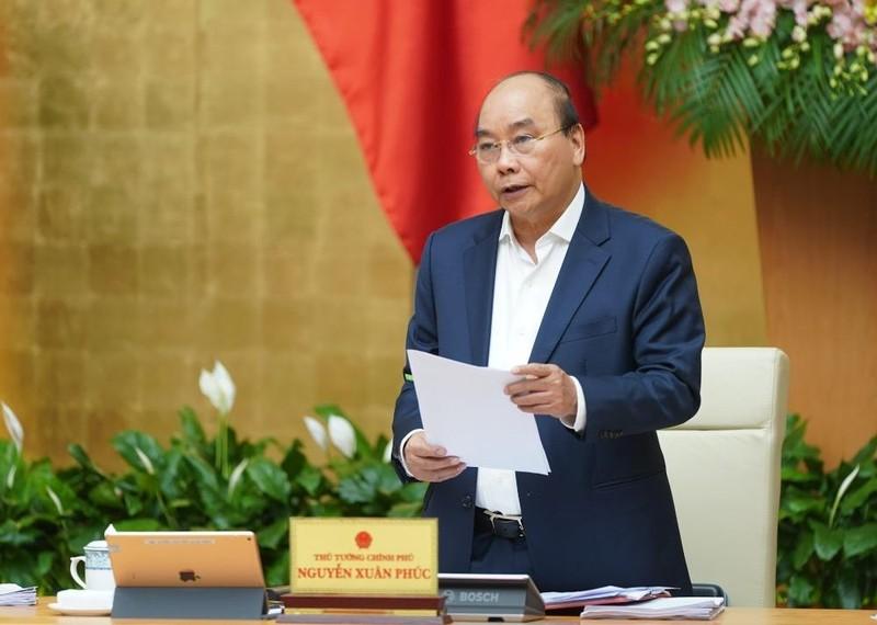 Thủ tướng Nguyễn Xuân Phúc phát biểu kết luận phiên họp. Ảnh: VGP/Quang Hiếu.