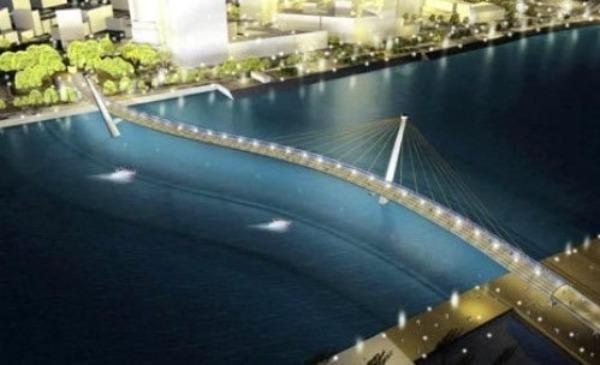Cầu đi bộ vượt sông Sài Gòn có hình dáng bản đồ Việt Nam