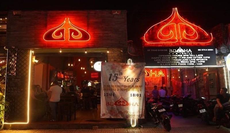 Buddha Bar & Grill trên đường Thảo Điền, quận 2, trước khi bị đóng cửa ngày 15/3. Ảnh: Buddha.