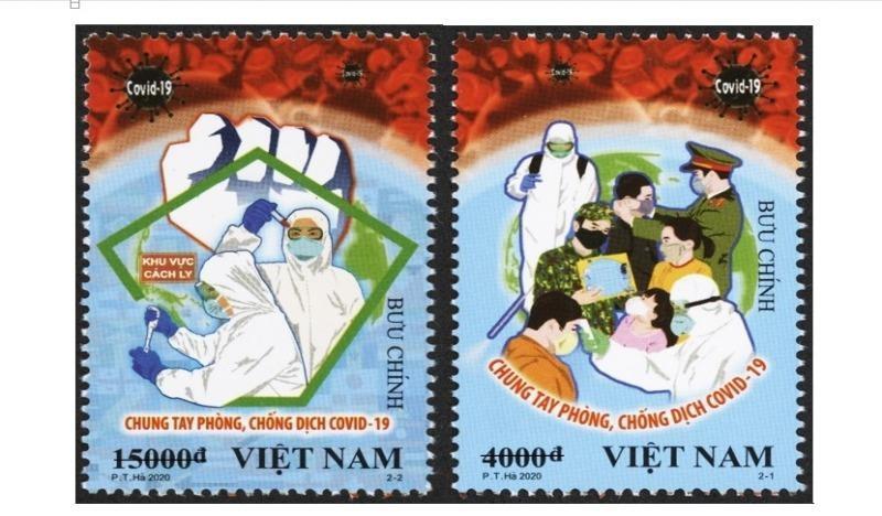 """Phát hành bộ tem """"Chung tay Phòng, chống Dịch Covid – 19"""""""