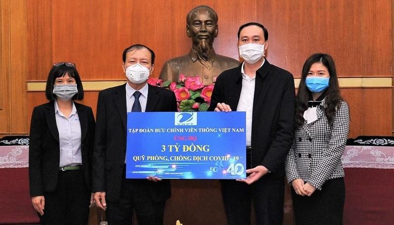 VNPT đóng góp 3 tỷ đồng, chung tay cùng cộng đồng chống dịch COVID-19