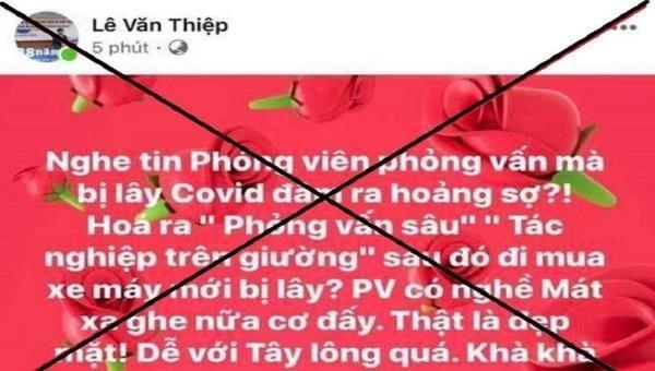 Phạt 8 triệu luật sư xúc phạm phóng viên nhiễm Covid-19 trên Facebook