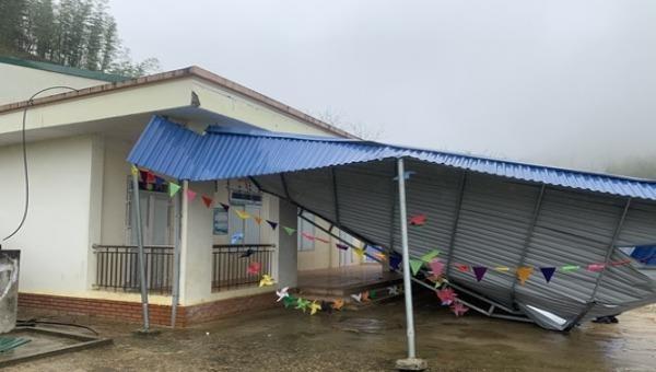 Đà Bắc khẩn trương khắc phục thiệt hại do mưa đá gây ra