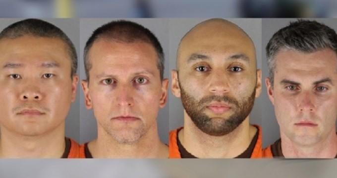 4 cảnh sát bị truy tố. Ảnh: CBS.