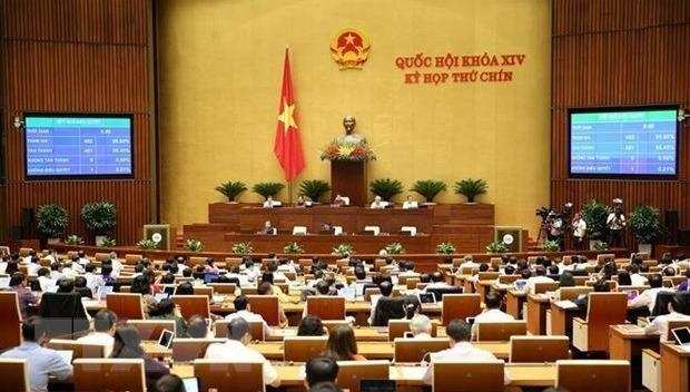 Quang cảnh một phiên họp của Quốc hội.