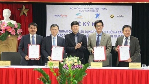 Các nhà mạng thỏa thuận dùng chung hơn 1300 trạm BTS