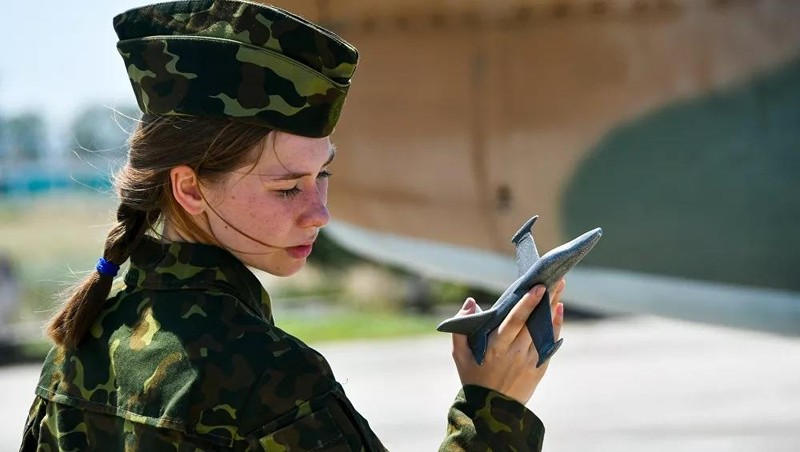 Nữ học viên trường Không quân Cao cấp Krasnodar.