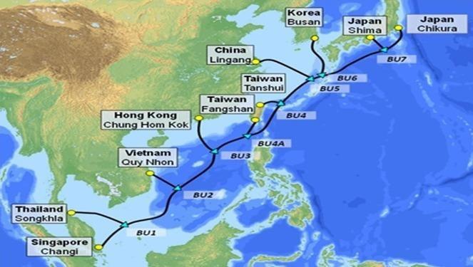 Tuyến cáp quang biển mới SJC2 sẽ kết nối Việt Nam với các quốc gia trong khu vực chấu Á - Thái Bình Dương, tăng thêm đáng kể dung lượng đường truyền Internet từ Việt Nam đi quốc tế.